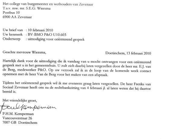 brief aan burgemeester en wethouders voorbeeld Brief Aan Burgemeester En Wethouders Voorbeeld | gantinova
