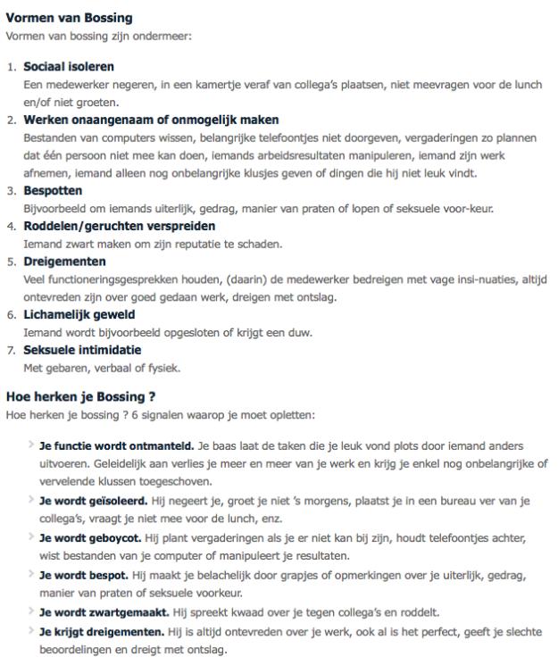voorbeeldbrief klacht werkgever Bossing: (weg)pesten door je baas.   Intimidatie, psychische  voorbeeldbrief klacht werkgever
